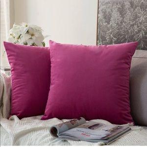Set of 2 Velvet Pillow Covers 26x26